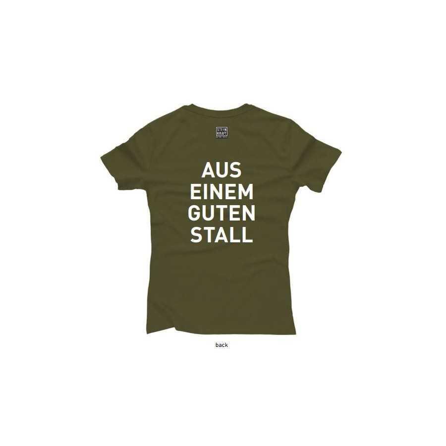 Aus einem guten Stall T-Shirt STEINKRAFT Natur-Zeolith, Damen Rückseite