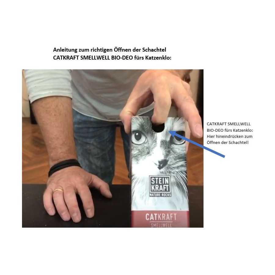 STEINKRAFT Zeolith für Katzen - Katzenstreu Anwendung