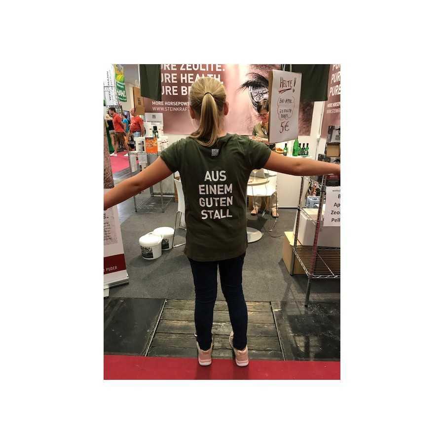 T-Shirt STEINKRAFT Zeolith auf der Messe PFERD Wels