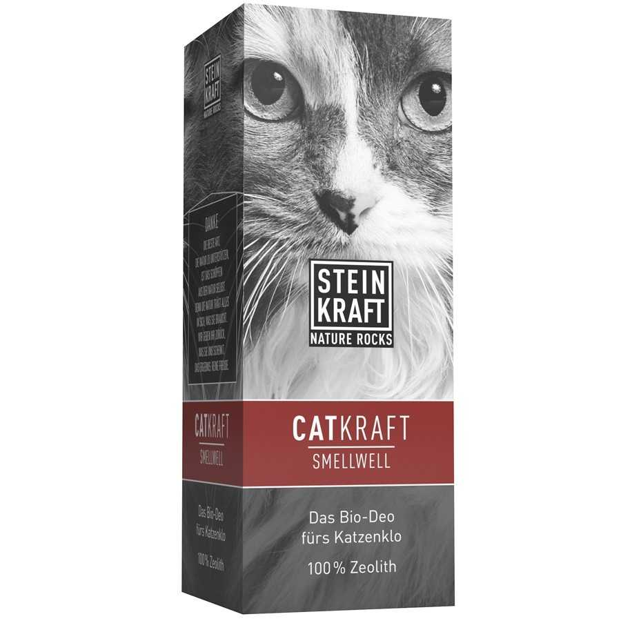 CATKRAFT SMELLWELL  Natur-Zeolith für Katzen Katzenstreu Streuschachtel 1kg