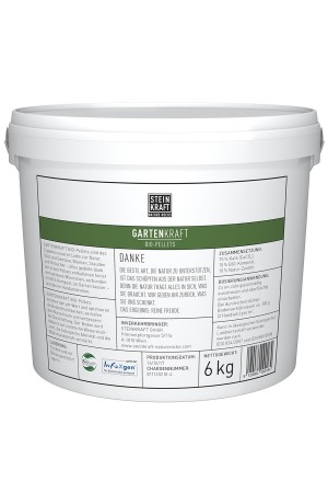 GARDENKRAFT Bio Pellets Natur-Zeolith Kübel 6kg Rückseite